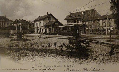 Aubonne, la gare