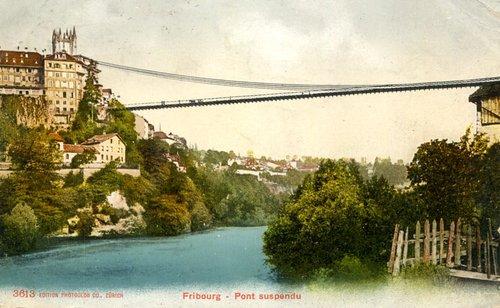 Le pont suspendu du Gottéron