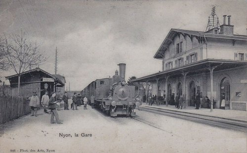 Nyon train à la Gare