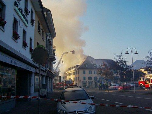 Incendie à Bulle en 2007