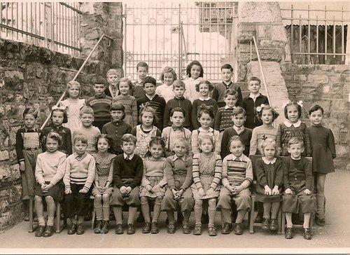 Collège de Prélaz, 1ère année primaire, 1952