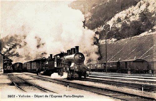 Vallorbe départ Express du Simplon
