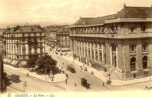 Genève, le bâtiment principal de La Poste