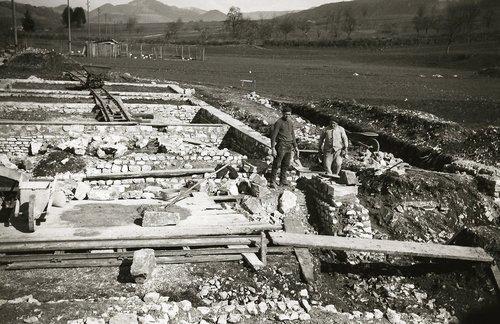 Fouilles de la villa gallo-romaine de Vicques, 1935-1938