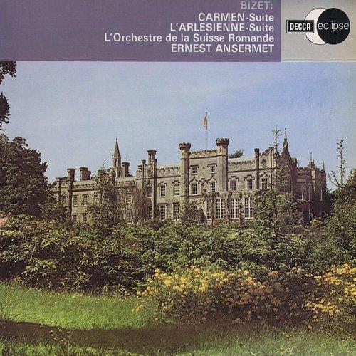 Georges BIZET, Suites No 1 et No 2 de l'Arlésienne, OSR, Ernest ANSERMET, recto pochette disque Decca Eclipse ECS 755