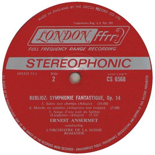 Hector Berlioz, Ernest Ansermet, Symphonie Fantastique, étiquette B du disque CS 6568