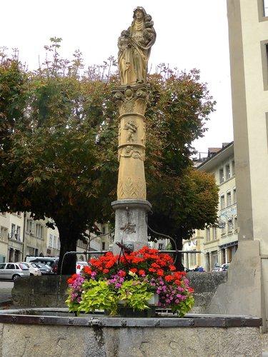 Fribourg, la fontaine Sainte-Anne