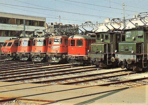 Le dépôt de Lausanne 1982 la halle aux locomotives