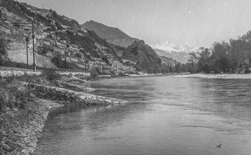 Le Rhône entre St Léonard et Sion