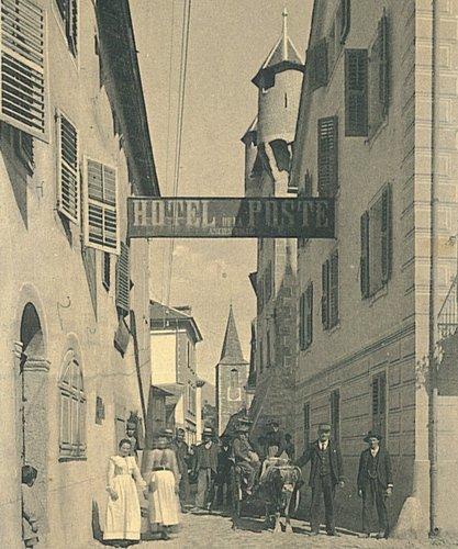 La rue du Bourg à la naissance du XXème