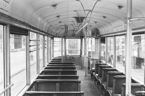Genève, dans la remorque du Tram 12