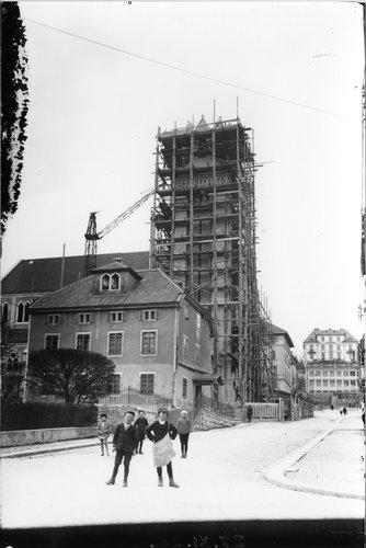 Église du Sacré-Cœur en construction, La Chaux-de-Fonds