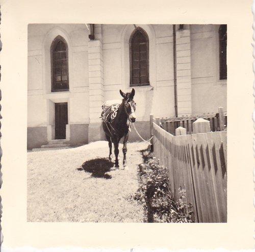 Zinal, place devant l'église