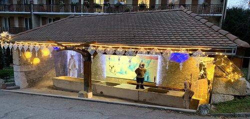 Bernex, la fontaine de Noël