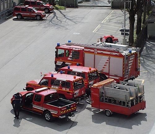 Pompiers à Lausanne