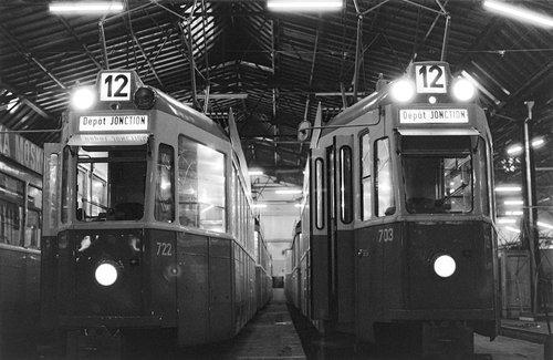 Genève, les Trams 12 se reposent