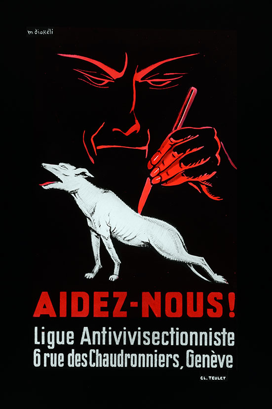 Réclame pour la Ligue Antivivisectionniste de Genève