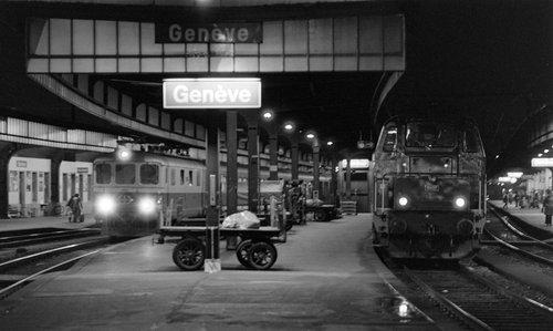Genève, gare Cornavin, les quais