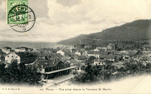 Vevey, la gare