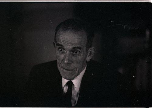 Gustave Roud photographié par Simone Oppliger, Lausanne 1974