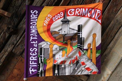 Drapeau des Fifres et tambours de Grimentz