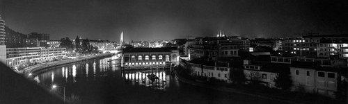 Genève, vue panoramique depuis le Seujet