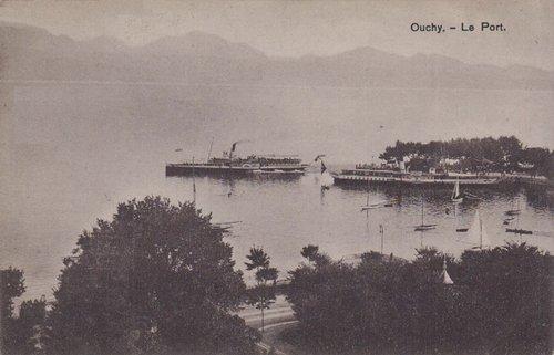 Lausanne Ouchy le port deux bateaux