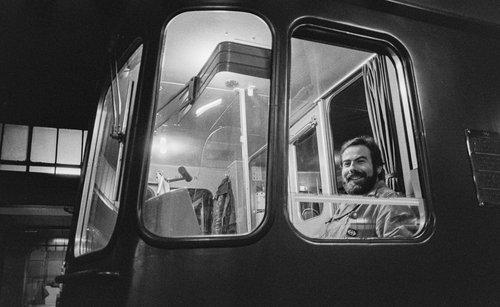 Genève, Gare Cornavin, un conducteur de train