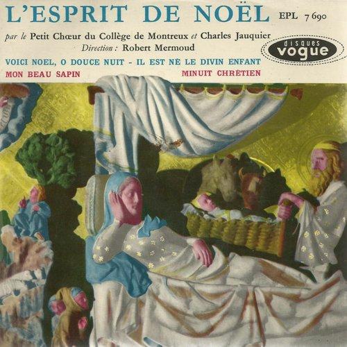 Adolphe ADAM, «Minuit, chrétiens», texte de Placide CAPPEAU, Charles JAUQUIER, ténor, Carlo HEMMERLING, orgue, 1959