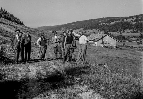 Les représentants de la Vallée de Joux Pré Rodet et au loin le Brassus