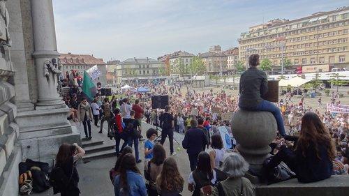 Lausanne - Grève des jeunes pour le climat