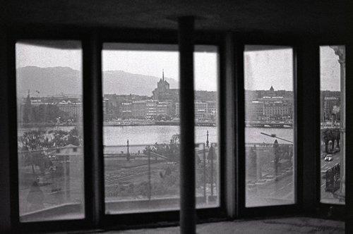 Genève, la rade depuis le Noga Hilton en construction