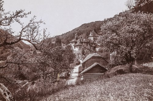 Le Château de la Rochette dans le vallon de la Mérine