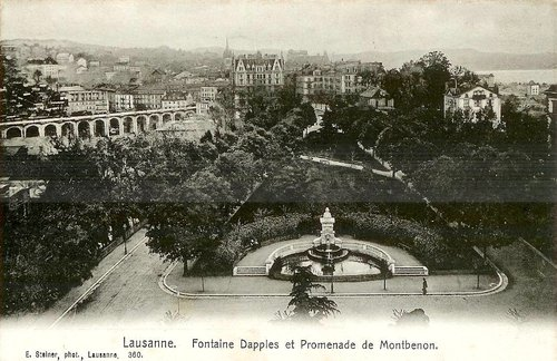 Lausanne, fontaine Dapples