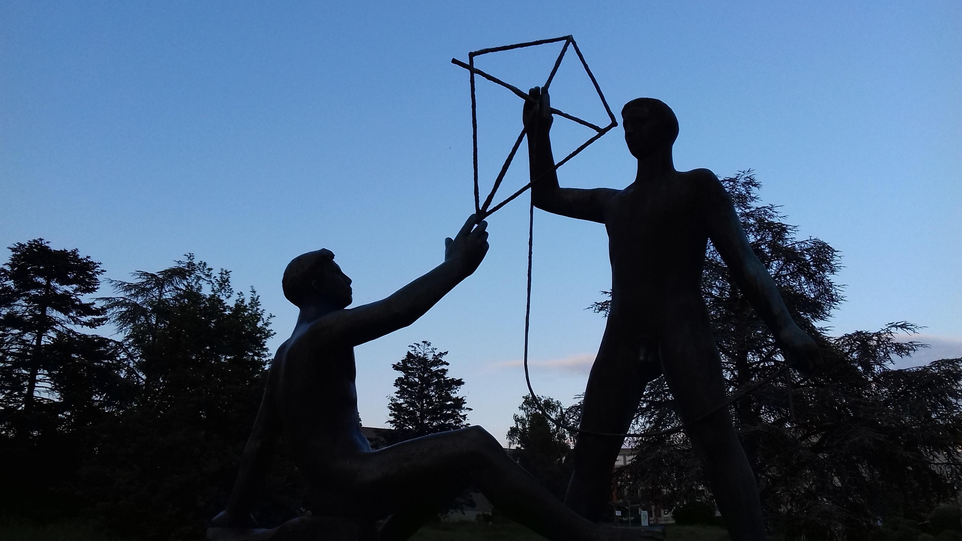 Statue Parc Collège des Coudriers_742