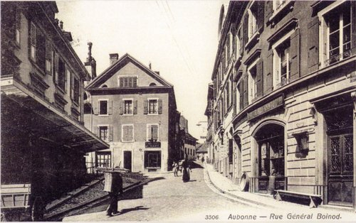 Aubonne, la rue Boinod