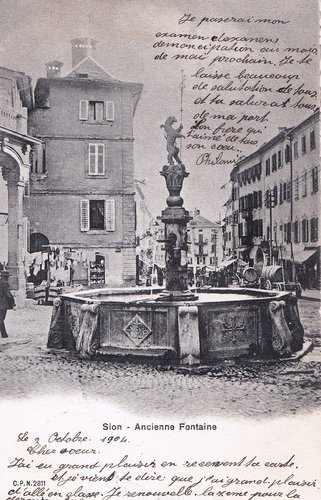 Sion, ancienne fontaine