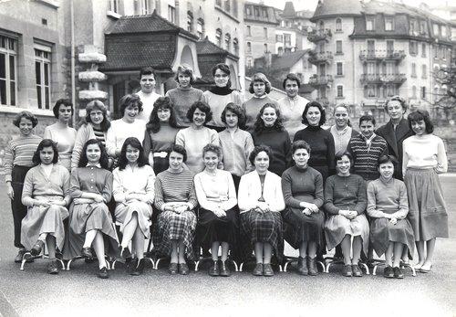 Collège de Prélaz, Lausanne. Classe f7e, année scolaire 1957-58