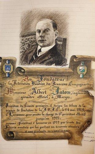 Premier Président central de la Fédération Vaudoise des Jeunesses Campagnardes