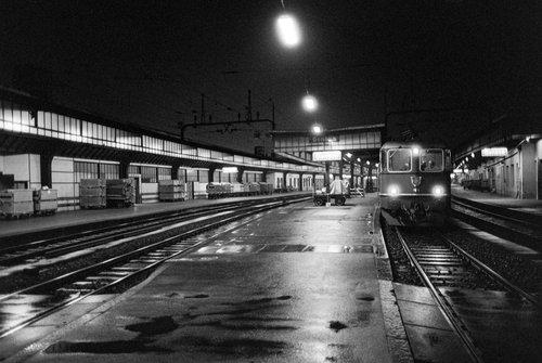 Genève, une locomotive à Cornavin