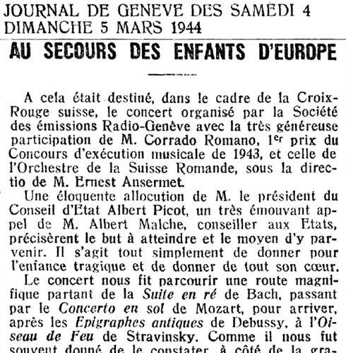 Claude DEBUSSY, «Six Épigraphes antiques», OSR, Ernest ANSERMET, 1944