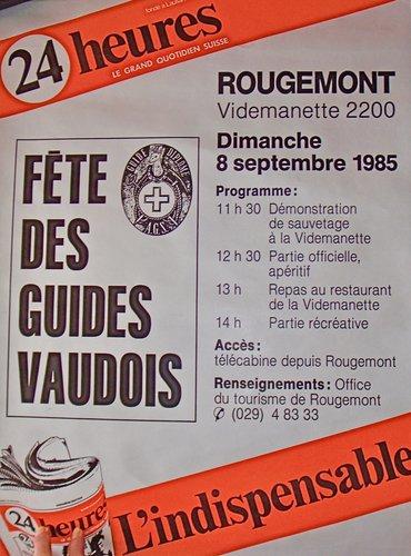 Fête des guides de montagne 1985