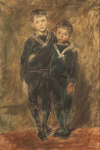 Franz et René par Eugène Burnand