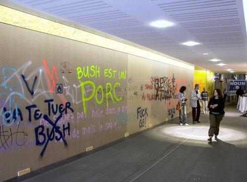 Genève, le Passage Malbuisson pendant le G8