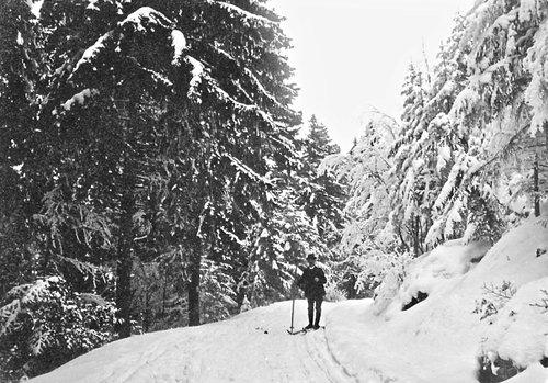 Randonnée à ski au cours des années 1900