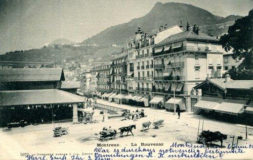 Montreux, la place du Marché