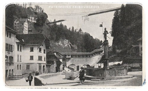 Pont du Gottéron après la catastrophe du 9 mai 1919