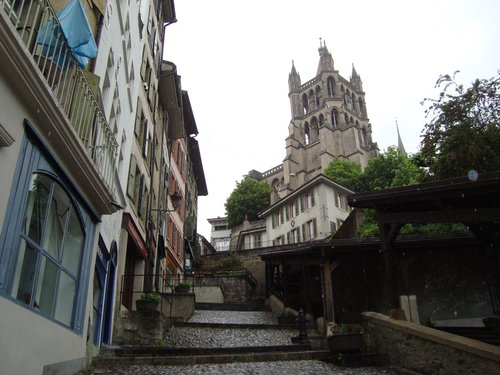 Escaliers du marché - Lausanne