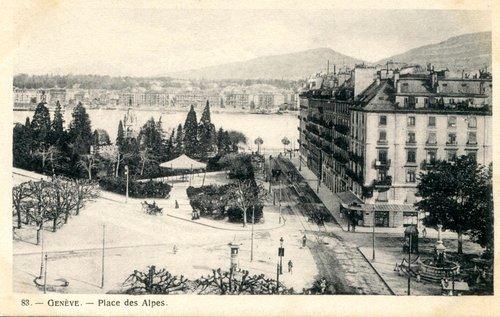 Genève, place de Alpes