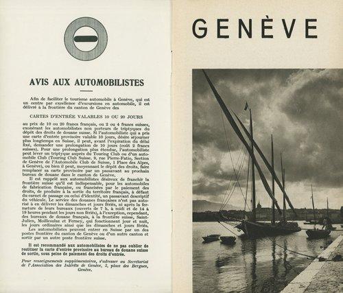Genève, avis aux automobilstes